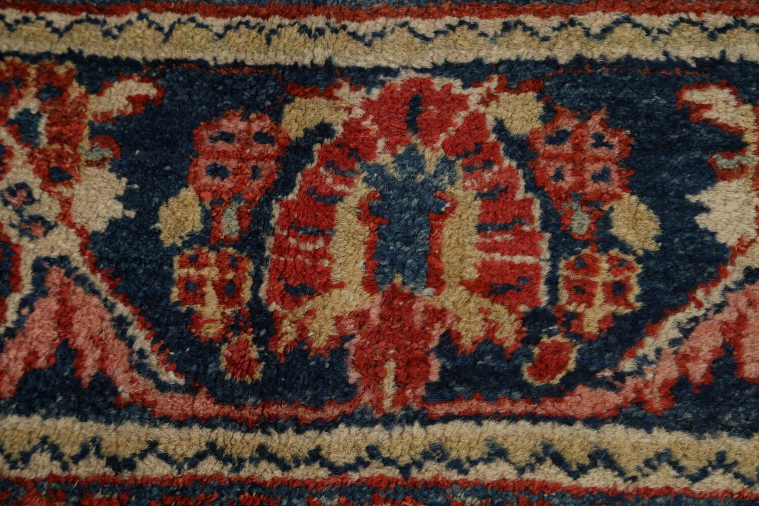 Antique Floral Mahal Persian Area Rug 8x11 image 9