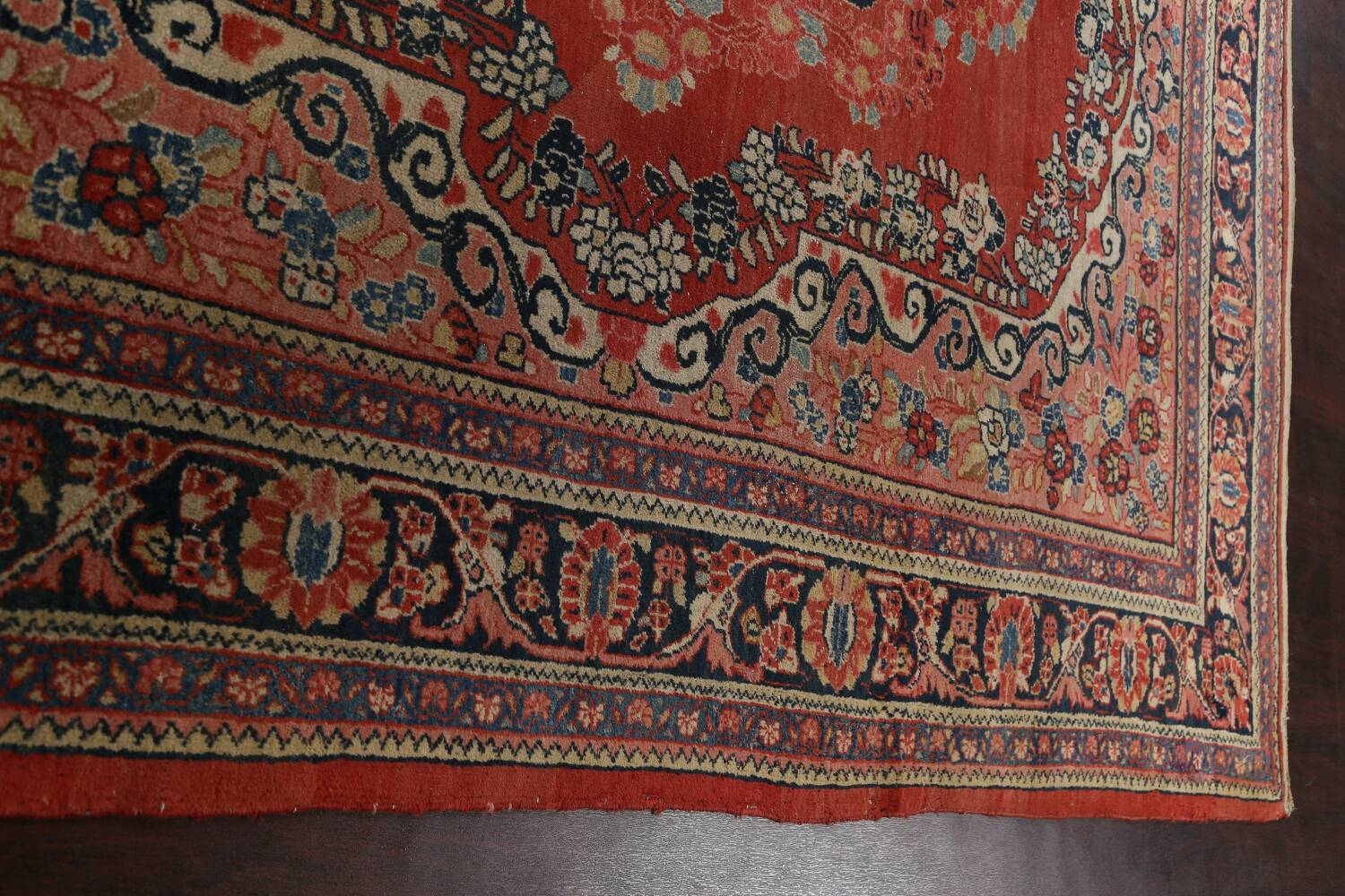 Antique Floral Mahal Persian Area Rug 8x11 image 15