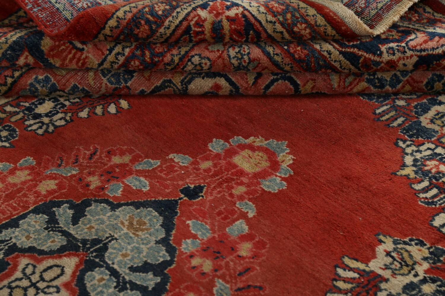 Antique Floral Mahal Persian Area Rug 8x11 image 18