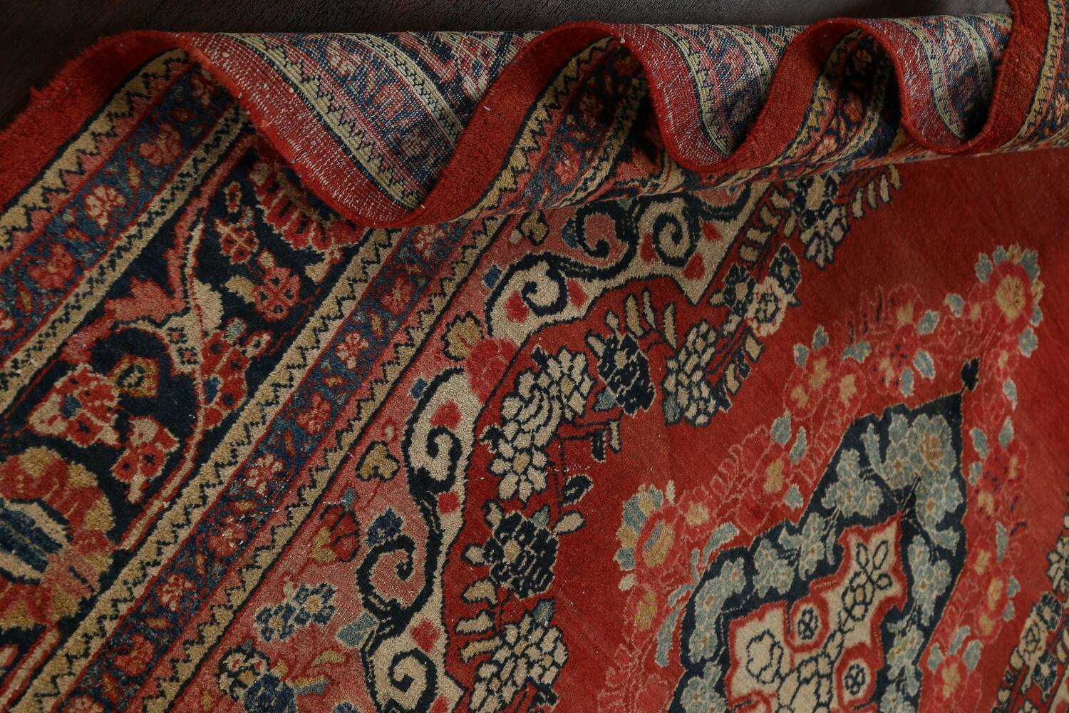 Antique Floral Mahal Persian Area Rug 8x11 image 19