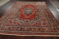 Antique Floral Mahal Persian Area Rug 8x11 image 17