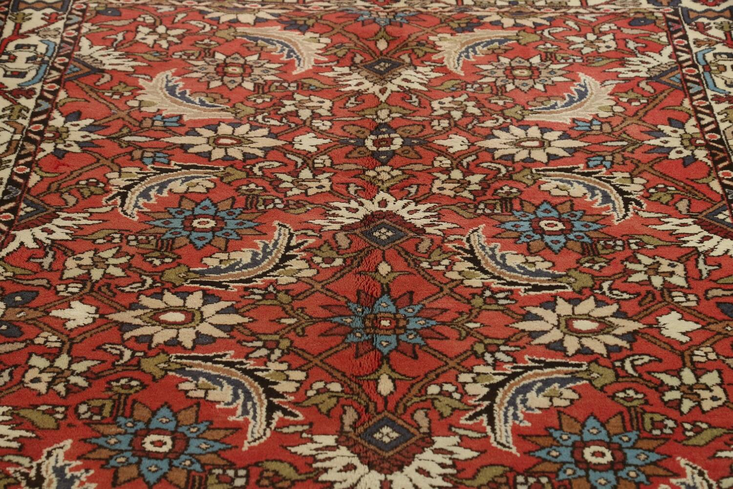 All-Over Floral Bakhtiari Persian Area Rug 5x10 image 12
