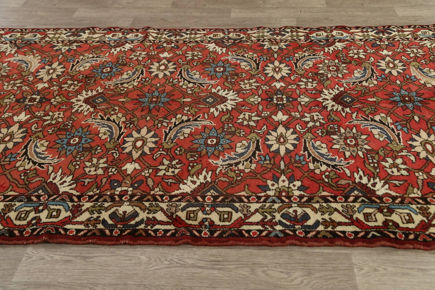 All-Over Floral Bakhtiari Persian Area Rug 5x10 image 14