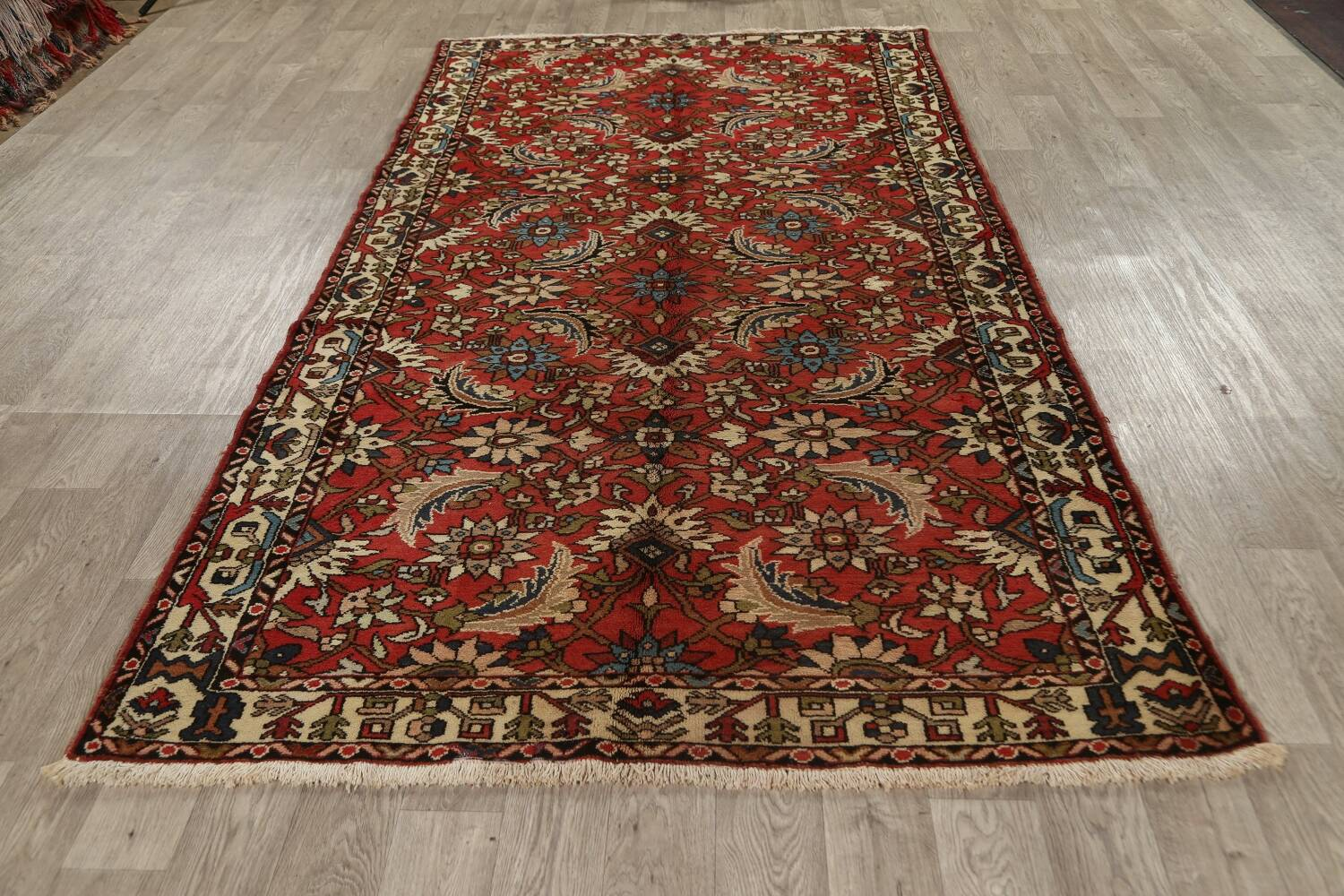 All-Over Floral Bakhtiari Persian Area Rug 5x10 image 15