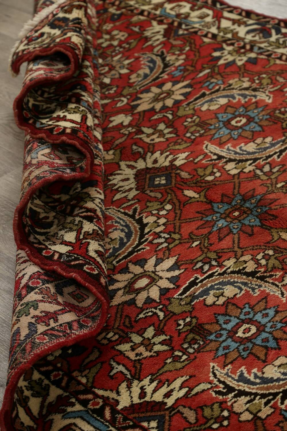 All-Over Floral Bakhtiari Persian Area Rug 5x10 image 17