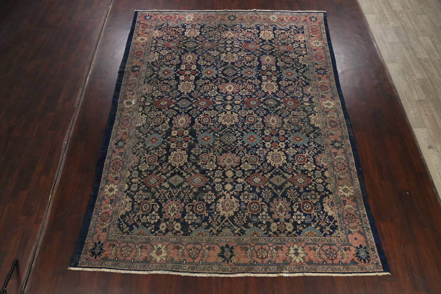 Pre-1900 Antique Vegetable Dye Sultanabad Persian Area Rug 10x13 image 2