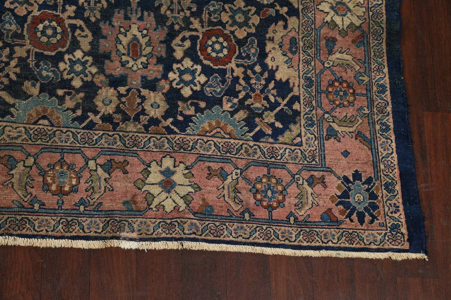 Pre-1900 Antique Vegetable Dye Sultanabad Persian Area Rug 10x13 image 5