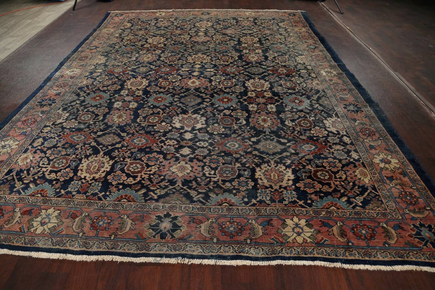 Pre-1900 Antique Vegetable Dye Sultanabad Persian Area Rug 10x13 image 15