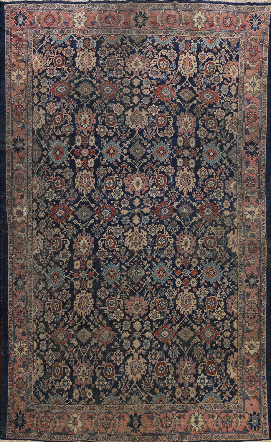 Pre-1900 Antique Vegetable Dye Sultanabad Persian Area Rug 10x13 image 1