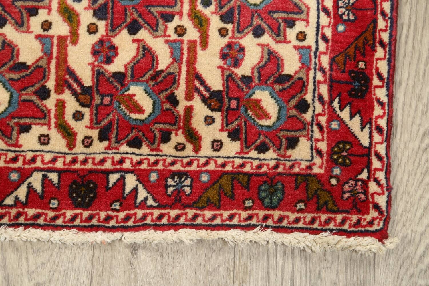 All-Over Geometric Afshar Persian Runner Rug 3x7 image 5