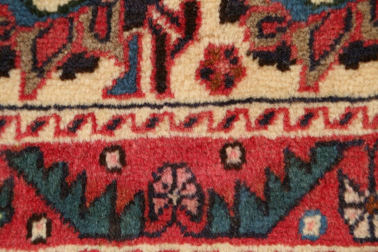 All-Over Geometric Afshar Persian Runner Rug 3x7 image 9