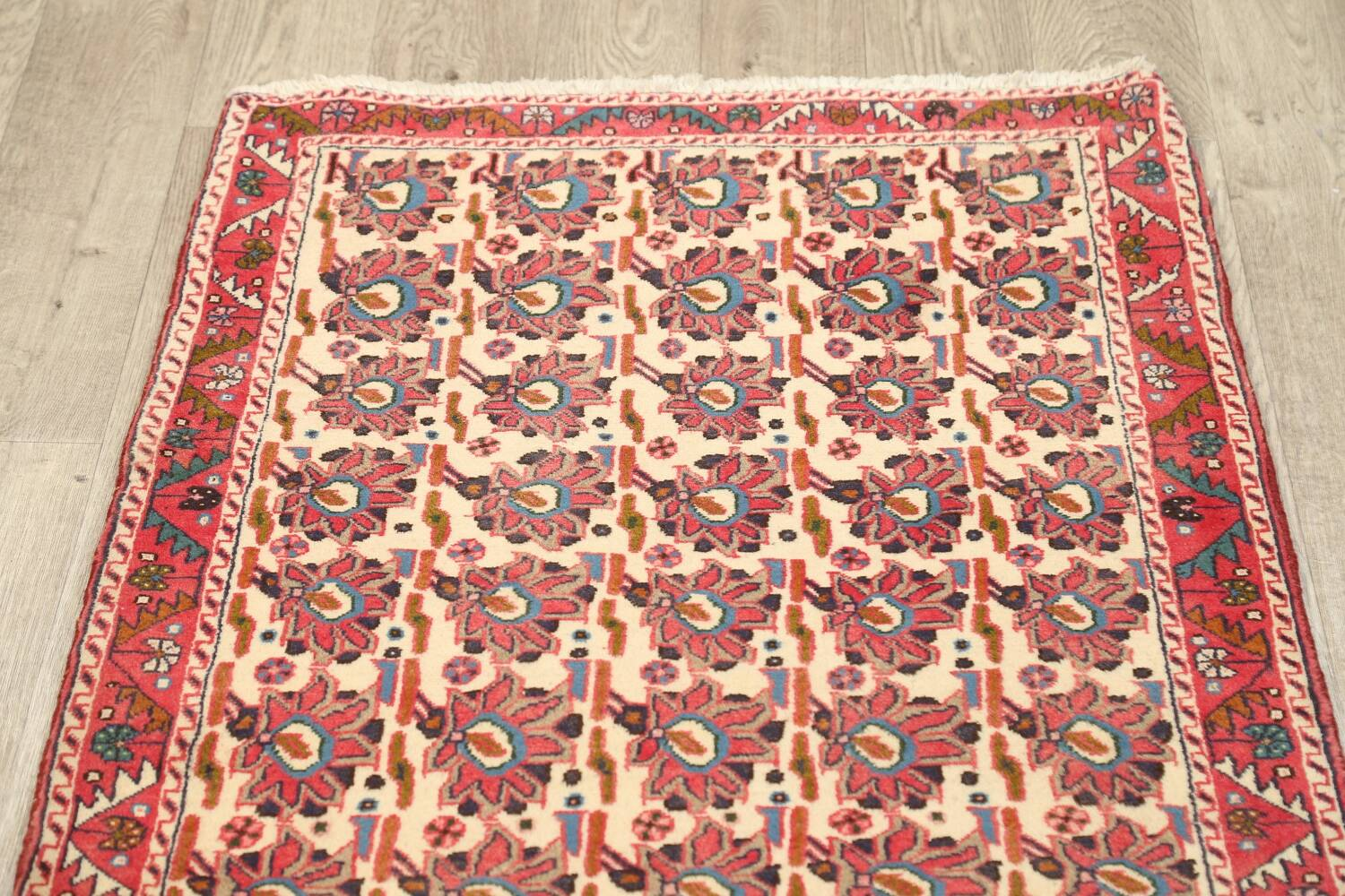 All-Over Geometric Afshar Persian Runner Rug 3x7 image 11