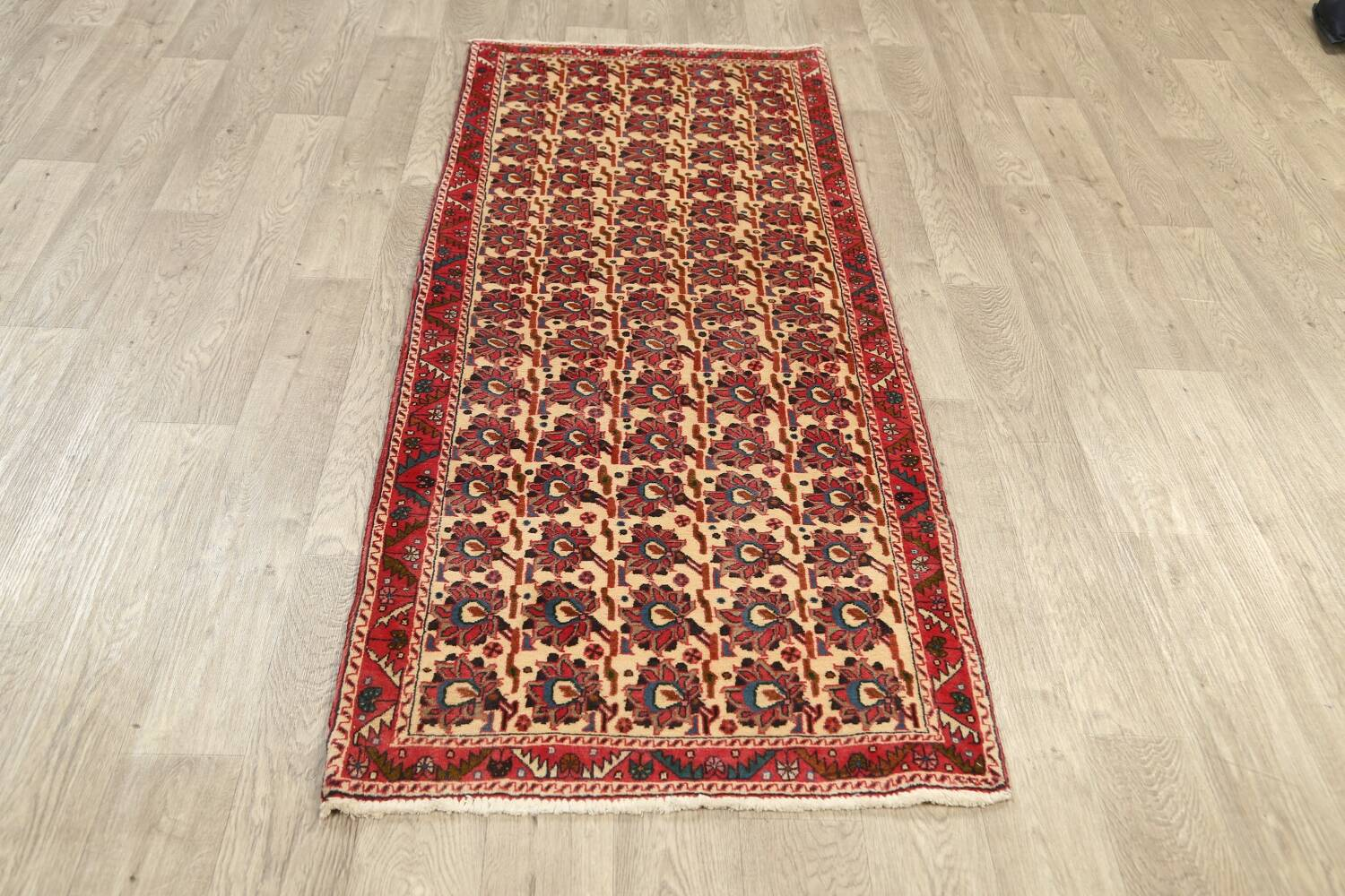 All-Over Geometric Afshar Persian Runner Rug 3x7 image 14