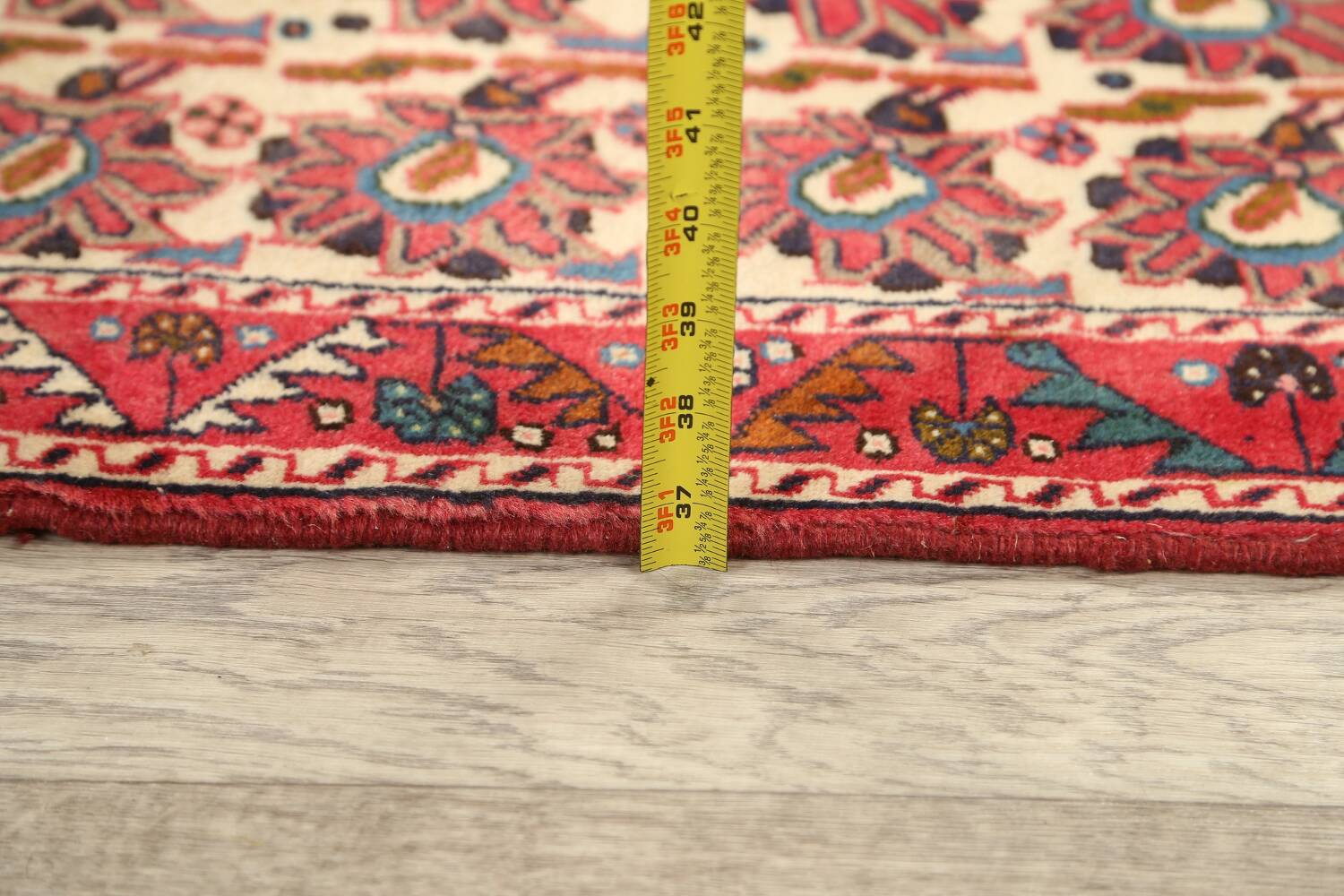 All-Over Geometric Afshar Persian Runner Rug 3x7 image 17