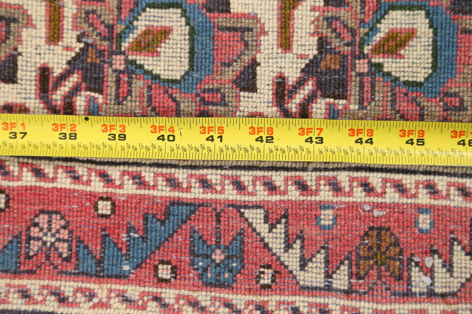 All-Over Geometric Afshar Persian Runner Rug 3x7 image 18