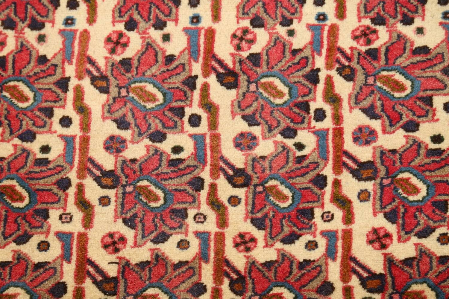 All-Over Geometric Afshar Persian Runner Rug 3x7 image 4