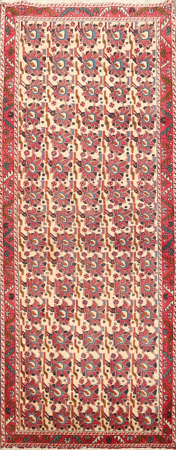 All-Over Geometric Afshar Persian Runner Rug 3x7 image 1