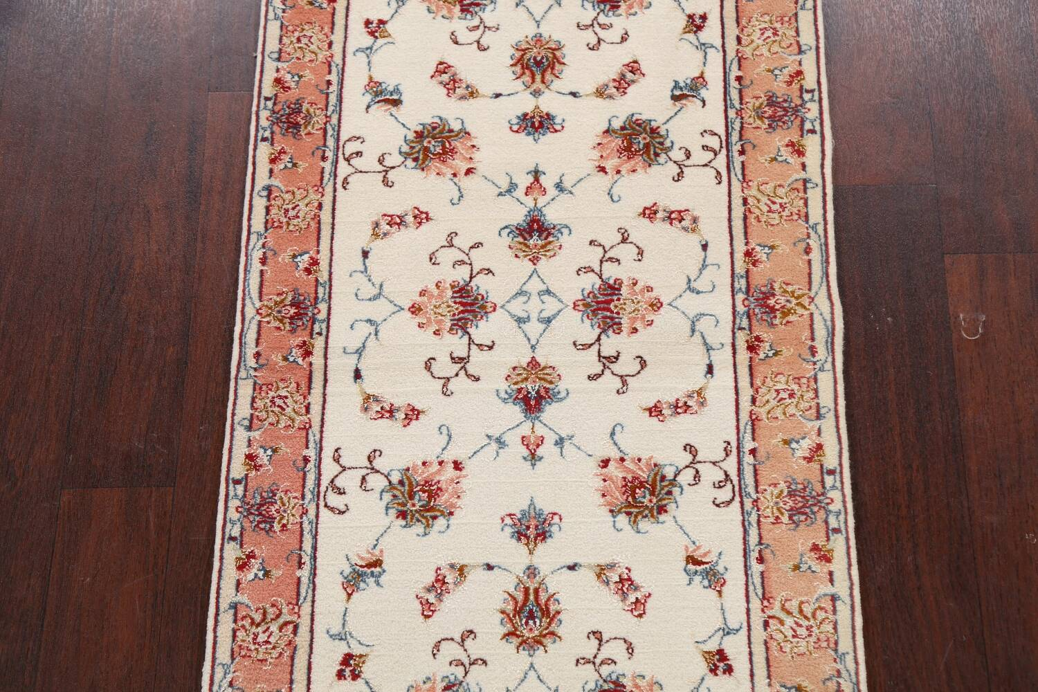 Vegetable Dye Wool/ Silk Floral Tabriz Persian Area Rug 2x4 image 3
