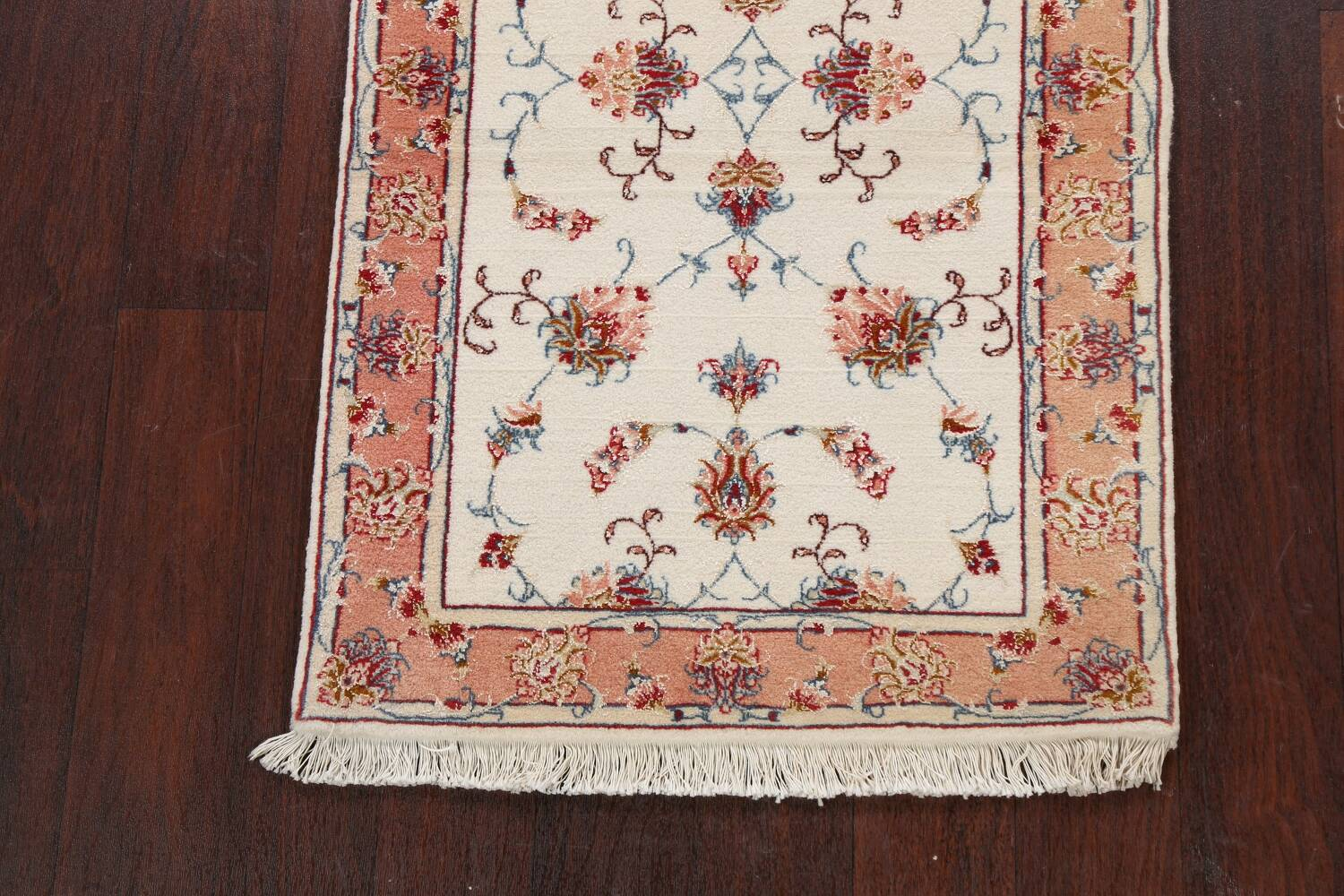 Vegetable Dye Wool/ Silk Floral Tabriz Persian Area Rug 2x4 image 5