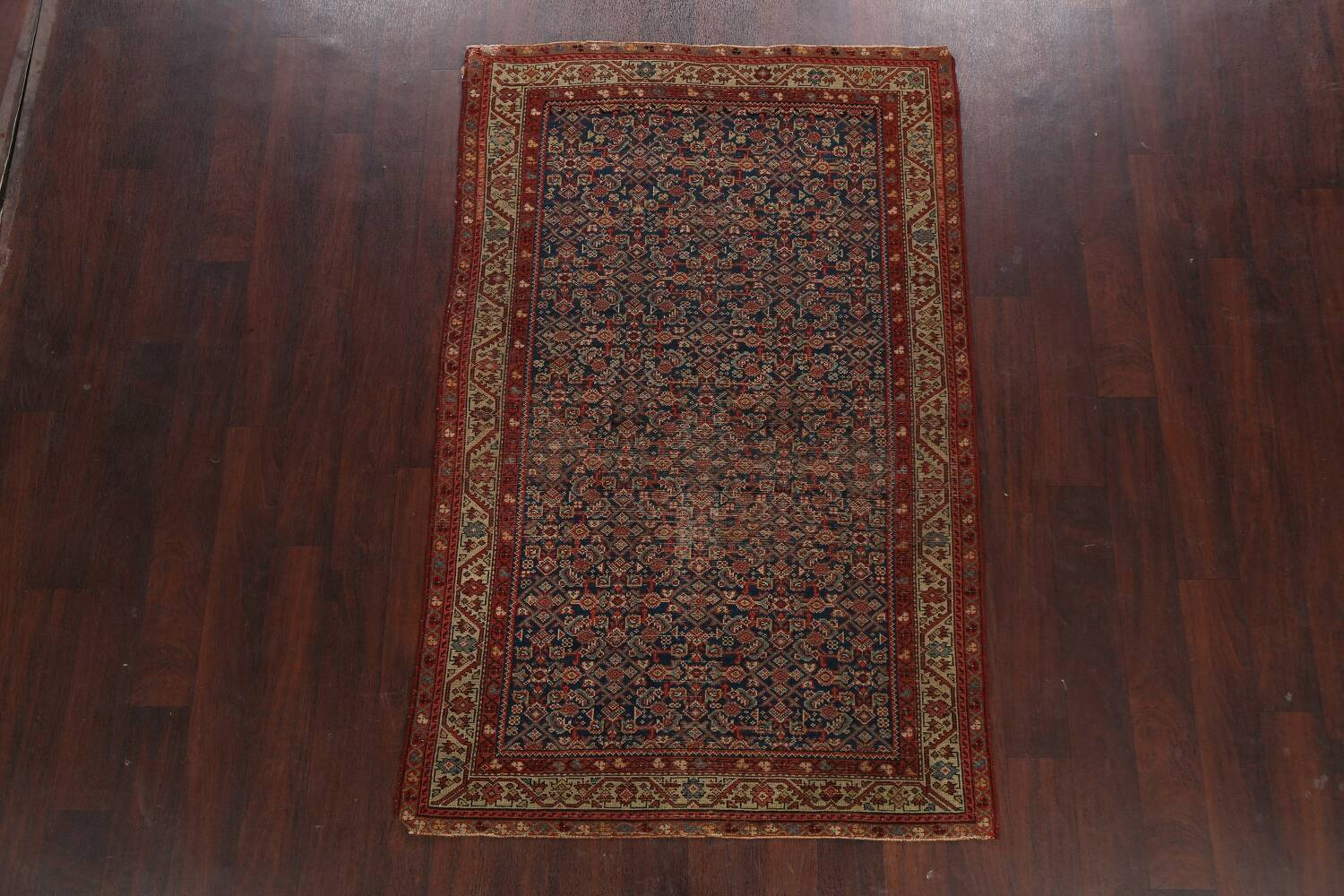 Pre-1900 Antique All-Over Malayer Persian Area Rug 4x6 image 2