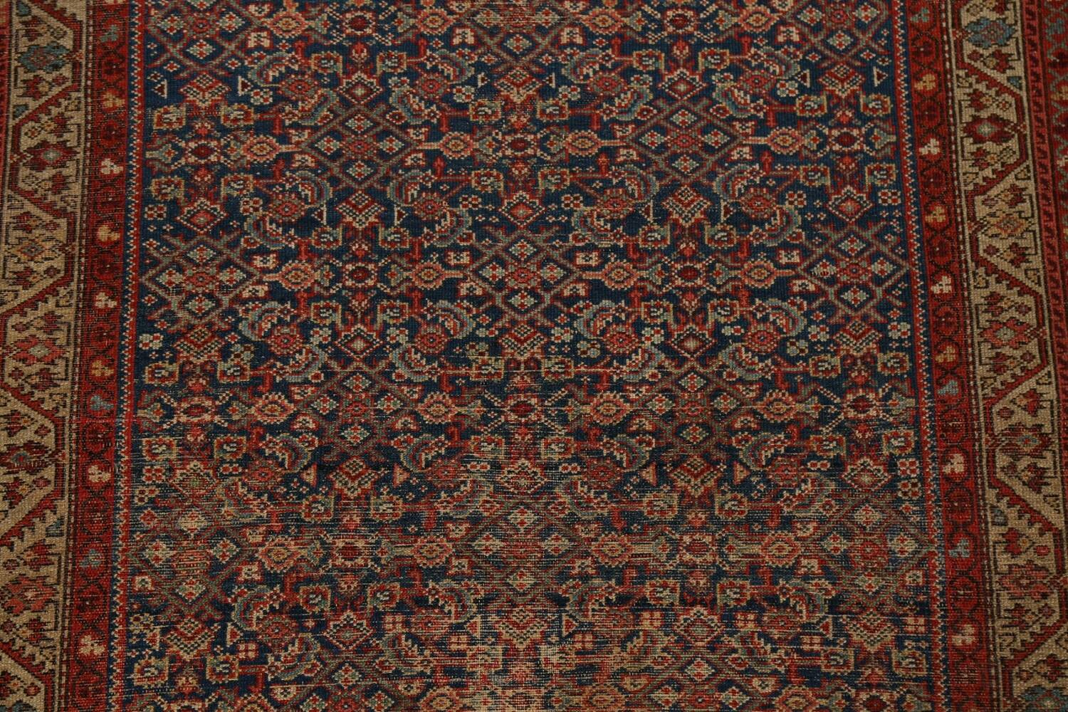 Pre-1900 Antique All-Over Malayer Persian Area Rug 4x6 image 4