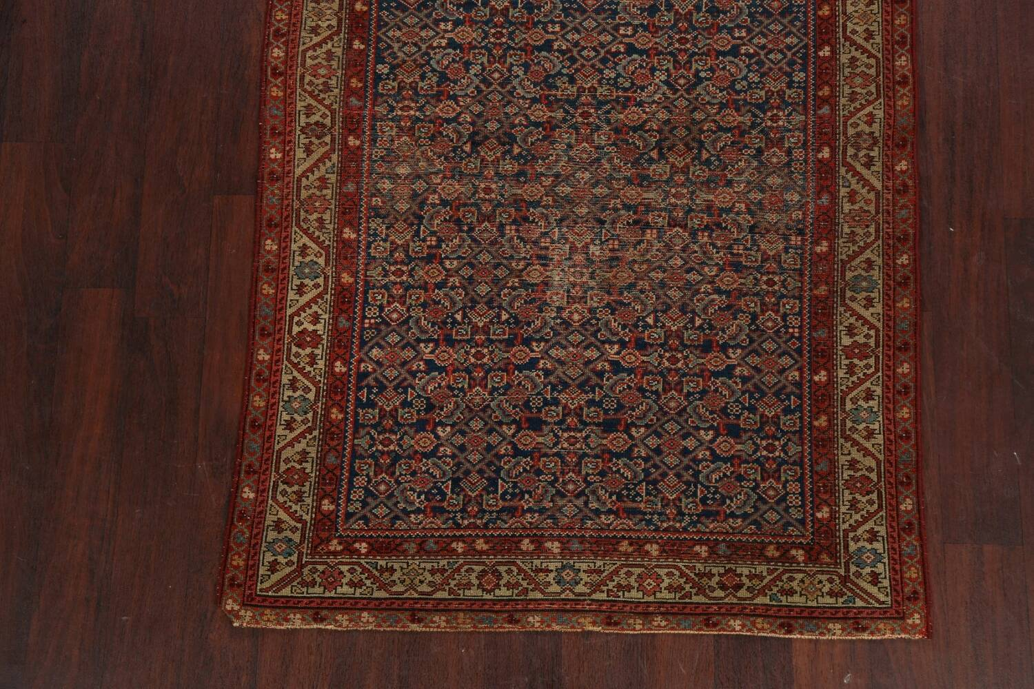 Pre-1900 Antique All-Over Malayer Persian Area Rug 4x6 image 8