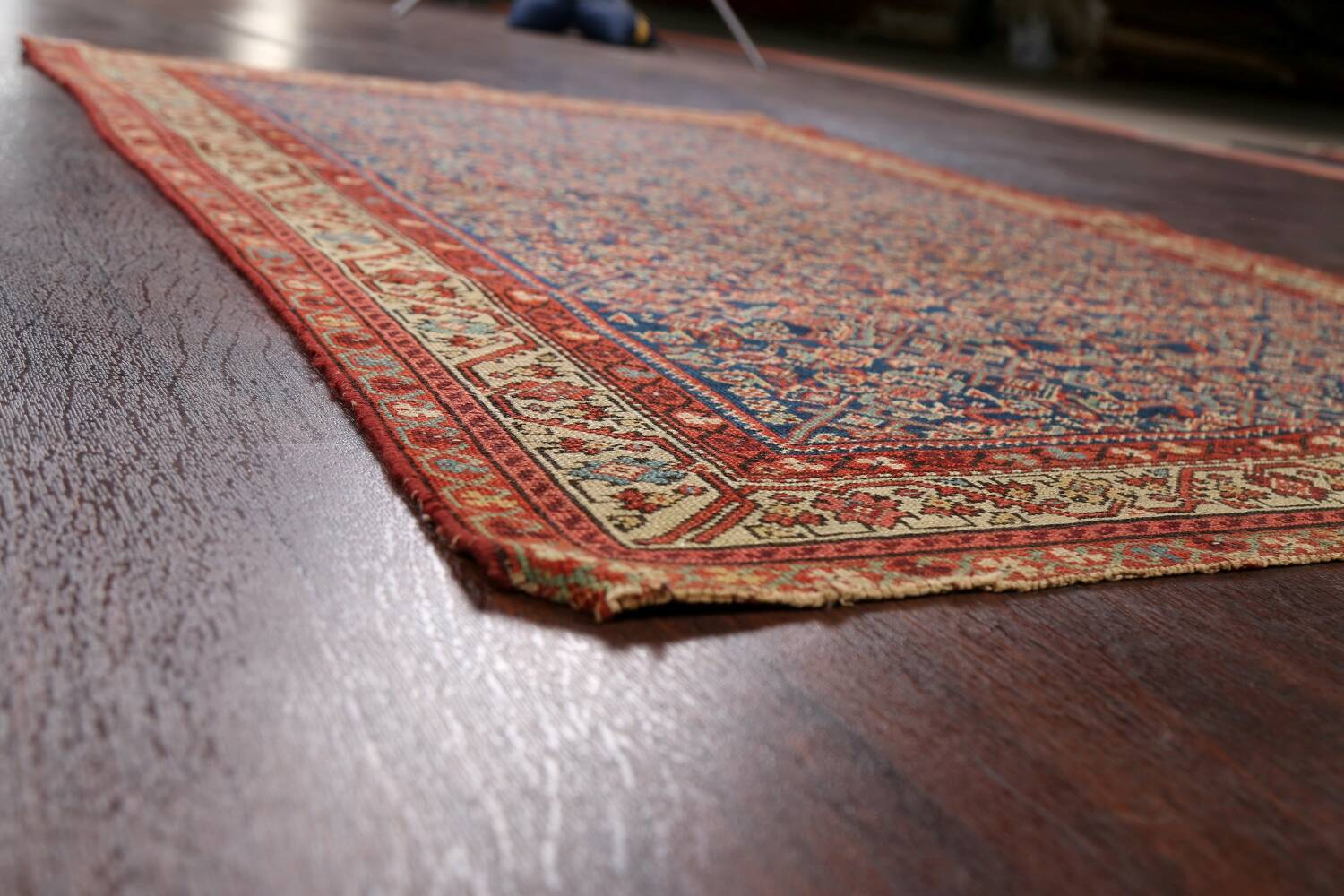 Pre-1900 Antique All-Over Malayer Persian Area Rug 4x6 image 6