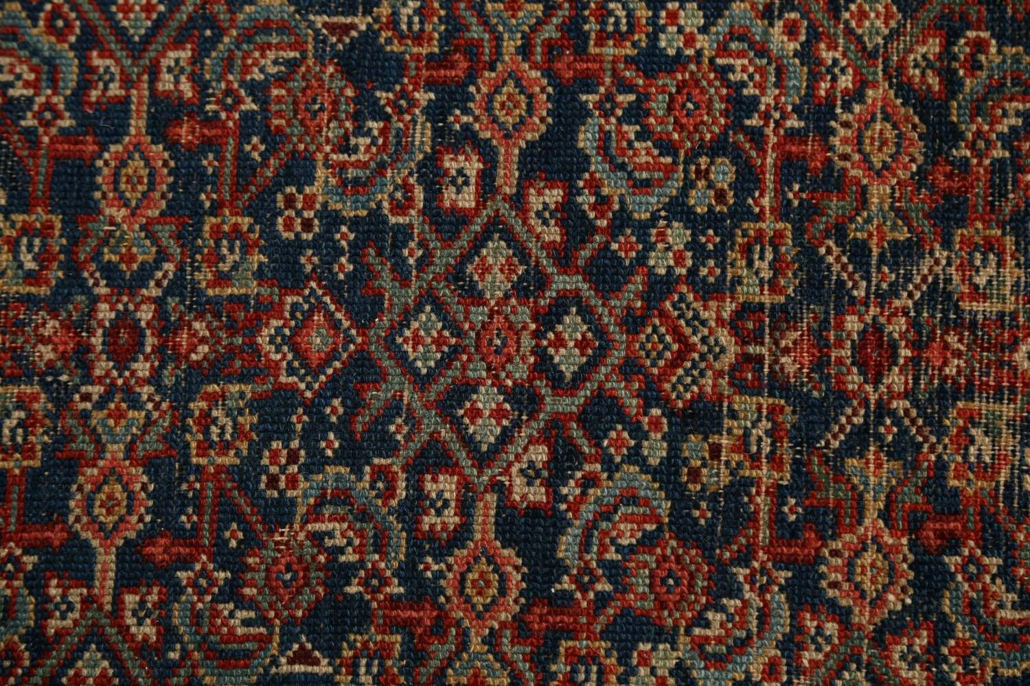 Pre-1900 Antique All-Over Malayer Persian Area Rug 4x6 image 9