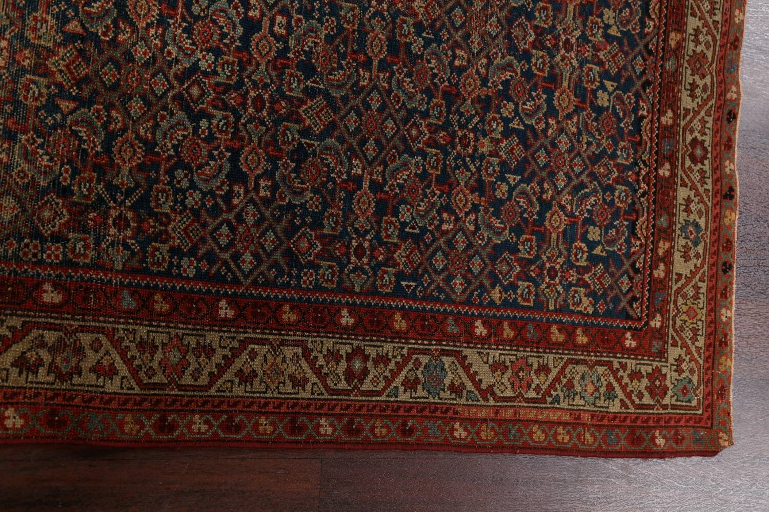 Pre-1900 Antique All-Over Malayer Persian Area Rug 4x6 image 10
