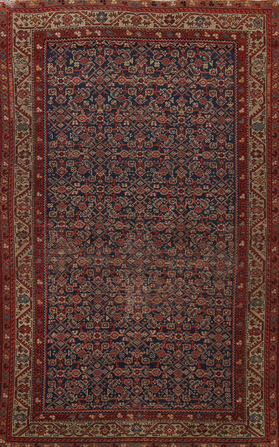 Pre-1900 Antique All-Over Malayer Persian Area Rug 4x6 image 1