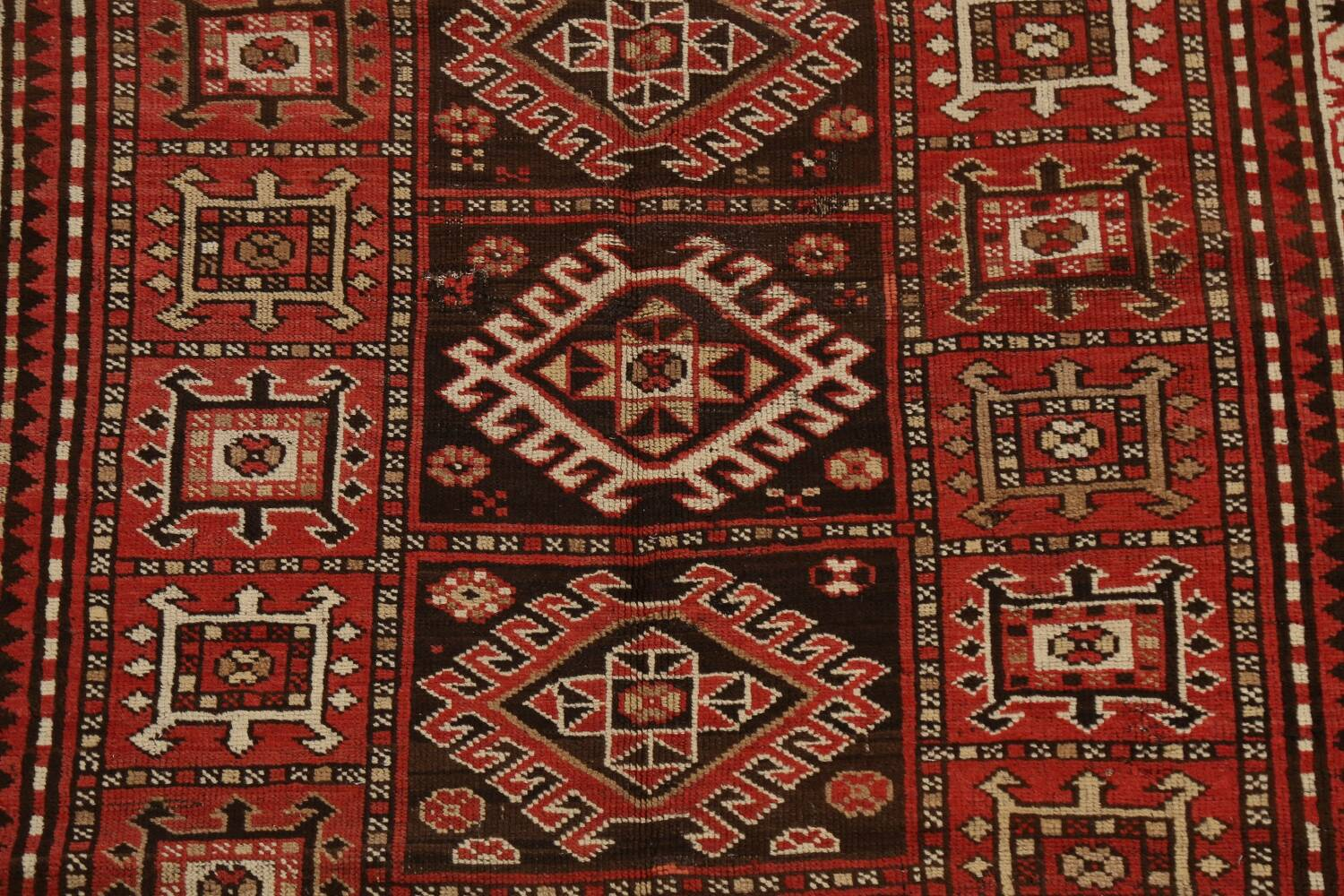Vegetable Dye Geometric Kazak Oriental Area Rug 5x8 image 4