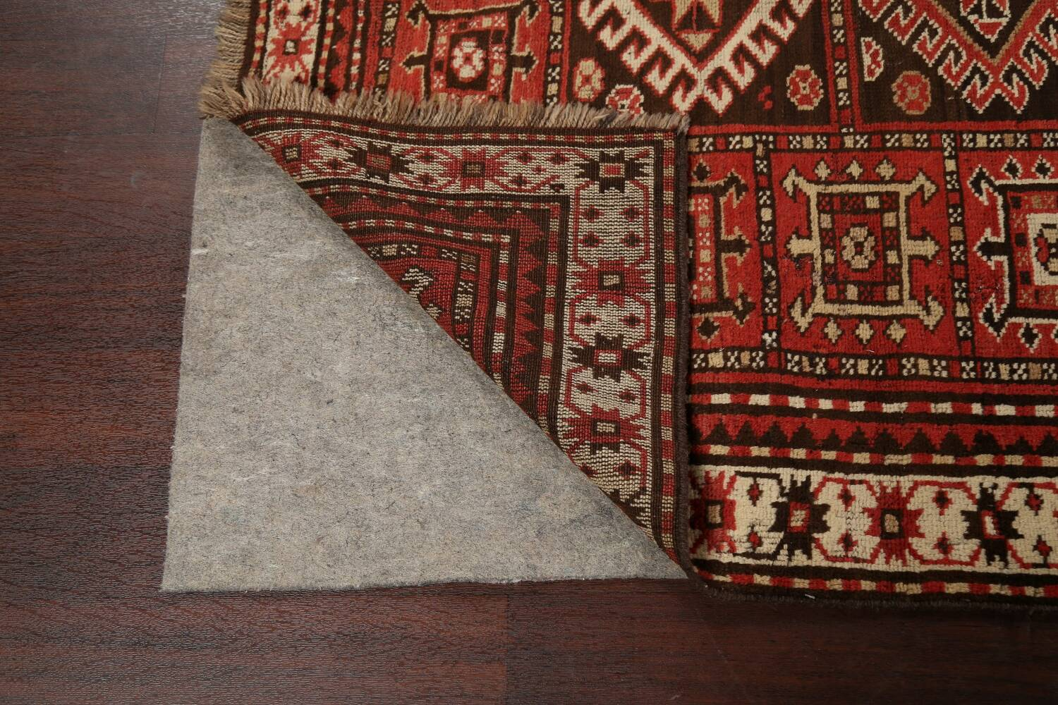 Vegetable Dye Geometric Kazak Oriental Area Rug 5x8 image 7