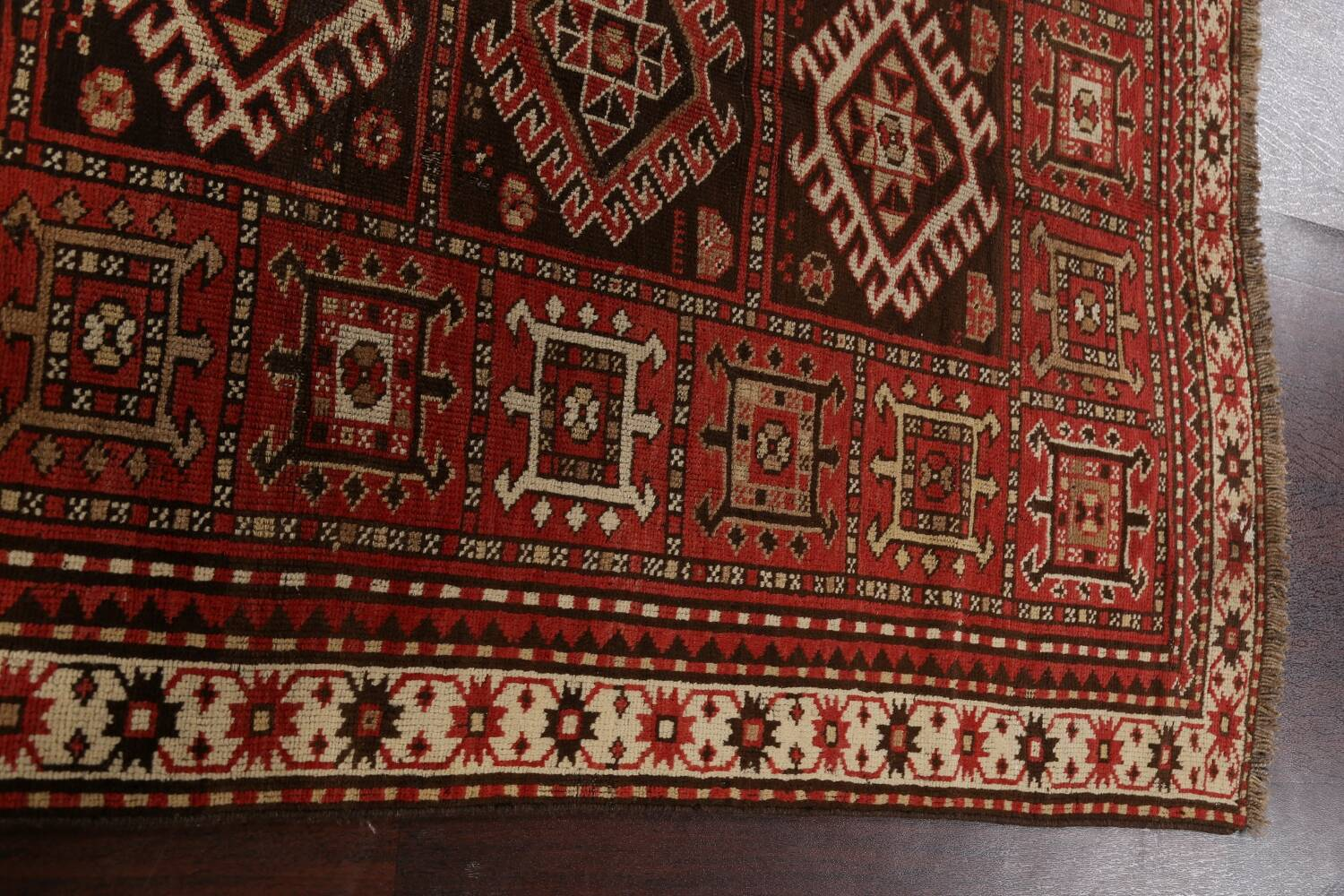 Vegetable Dye Geometric Kazak Oriental Area Rug 5x8 image 14