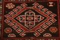 Vegetable Dye Geometric Kazak Oriental Area Rug 5x8 image 9