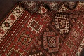 Vegetable Dye Geometric Kazak Oriental Area Rug 5x8 image 18