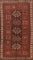 Vegetable Dye Geometric Kazak Oriental Area Rug 5x8 image 1