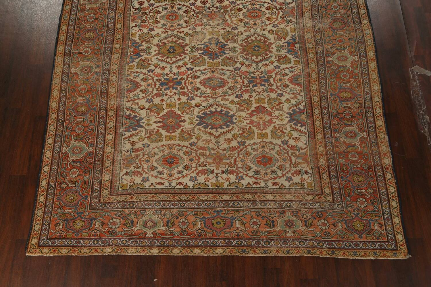 Pre-1900 Antique Vegetable Dye Sultanabad Persian Area Rug 9x12 image 8
