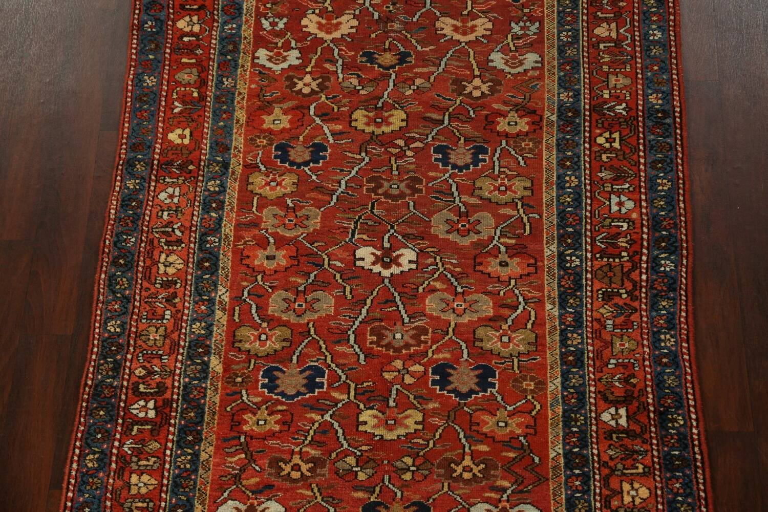 Pre-1900 Antique Vegetable Dye Sultanabad Persian Area Rug 5x10 image 3
