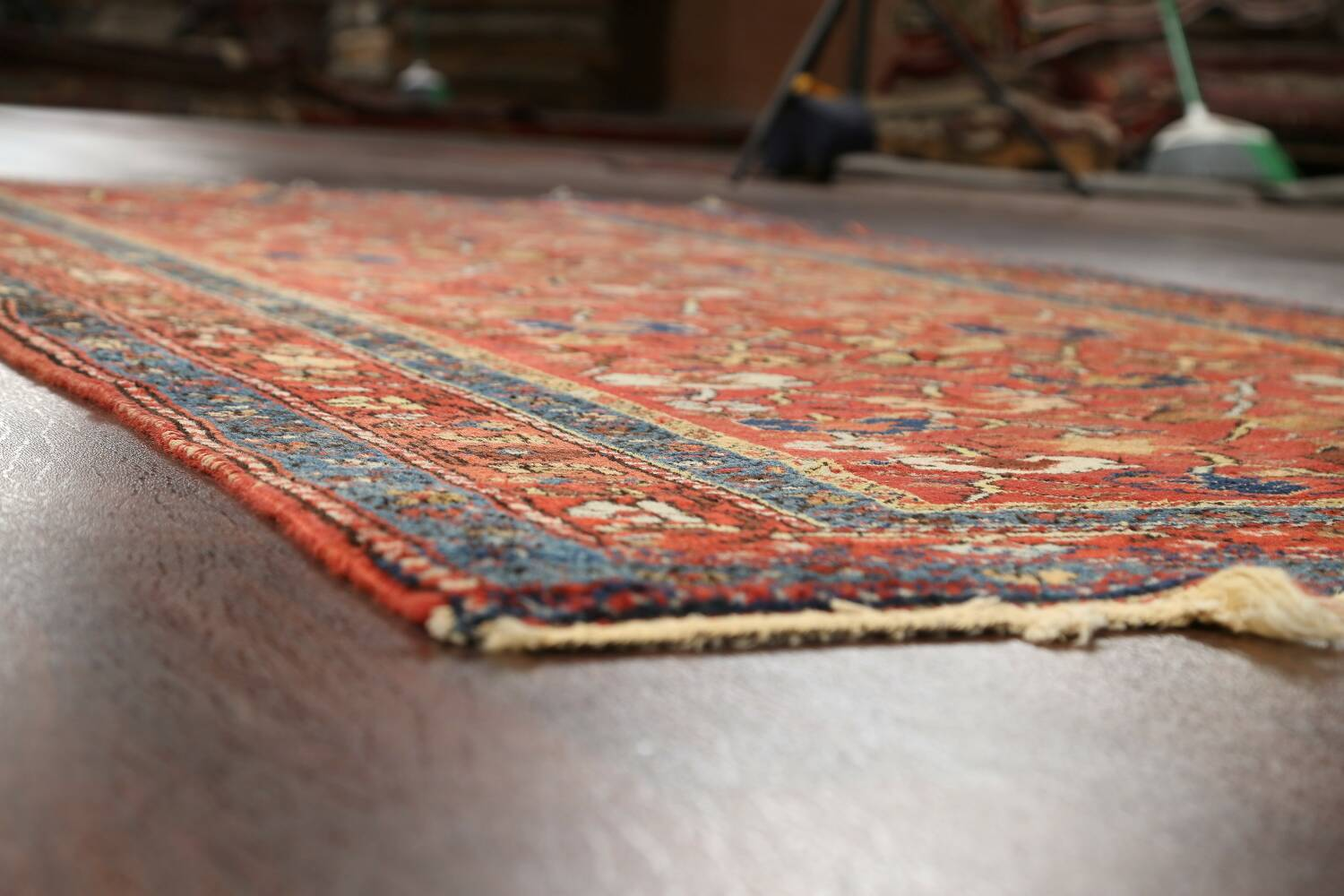 Pre-1900 Antique Vegetable Dye Sultanabad Persian Area Rug 5x10 image 6