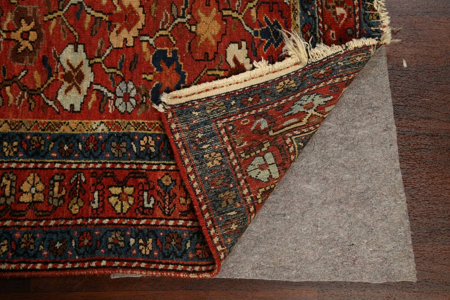 Pre-1900 Antique Vegetable Dye Sultanabad Persian Area Rug 5x10 image 7