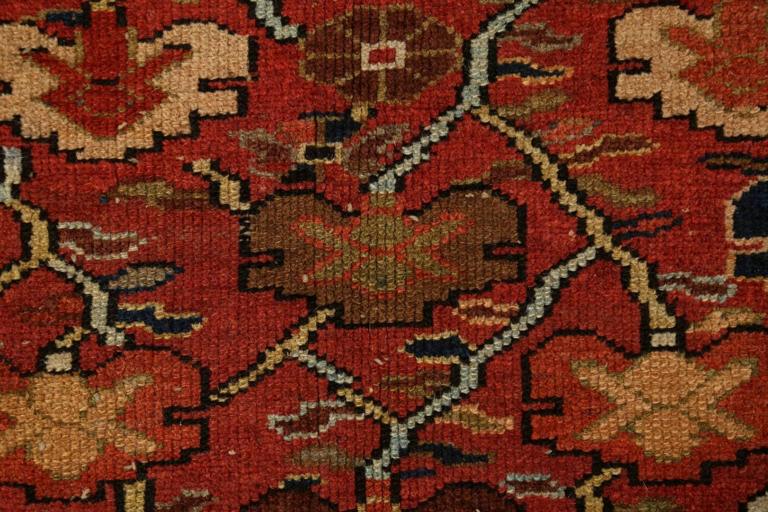 Pre-1900 Antique Vegetable Dye Sultanabad Persian Area Rug 5x10 image 9
