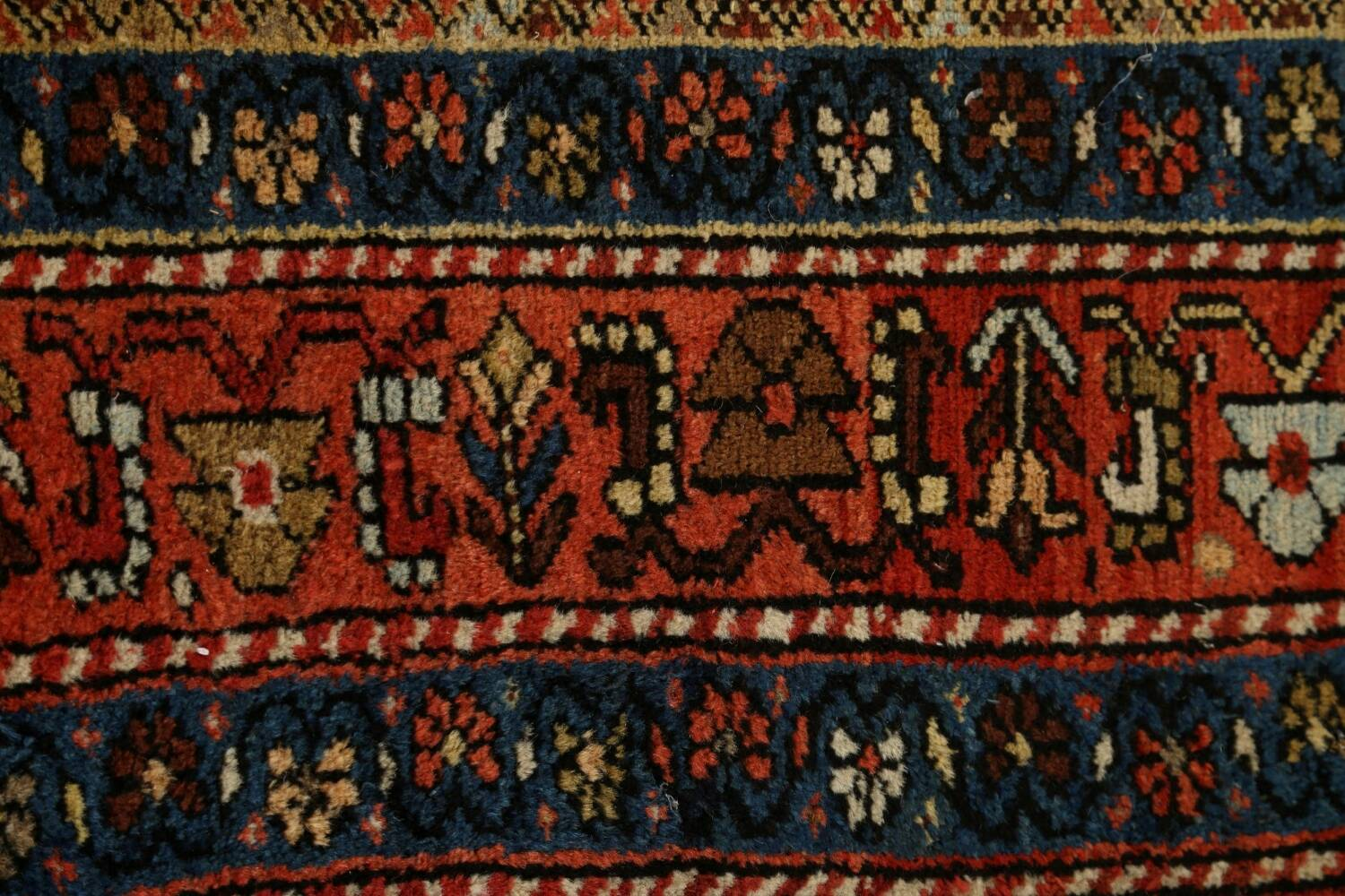Pre-1900 Antique Vegetable Dye Sultanabad Persian Area Rug 5x10 image 12