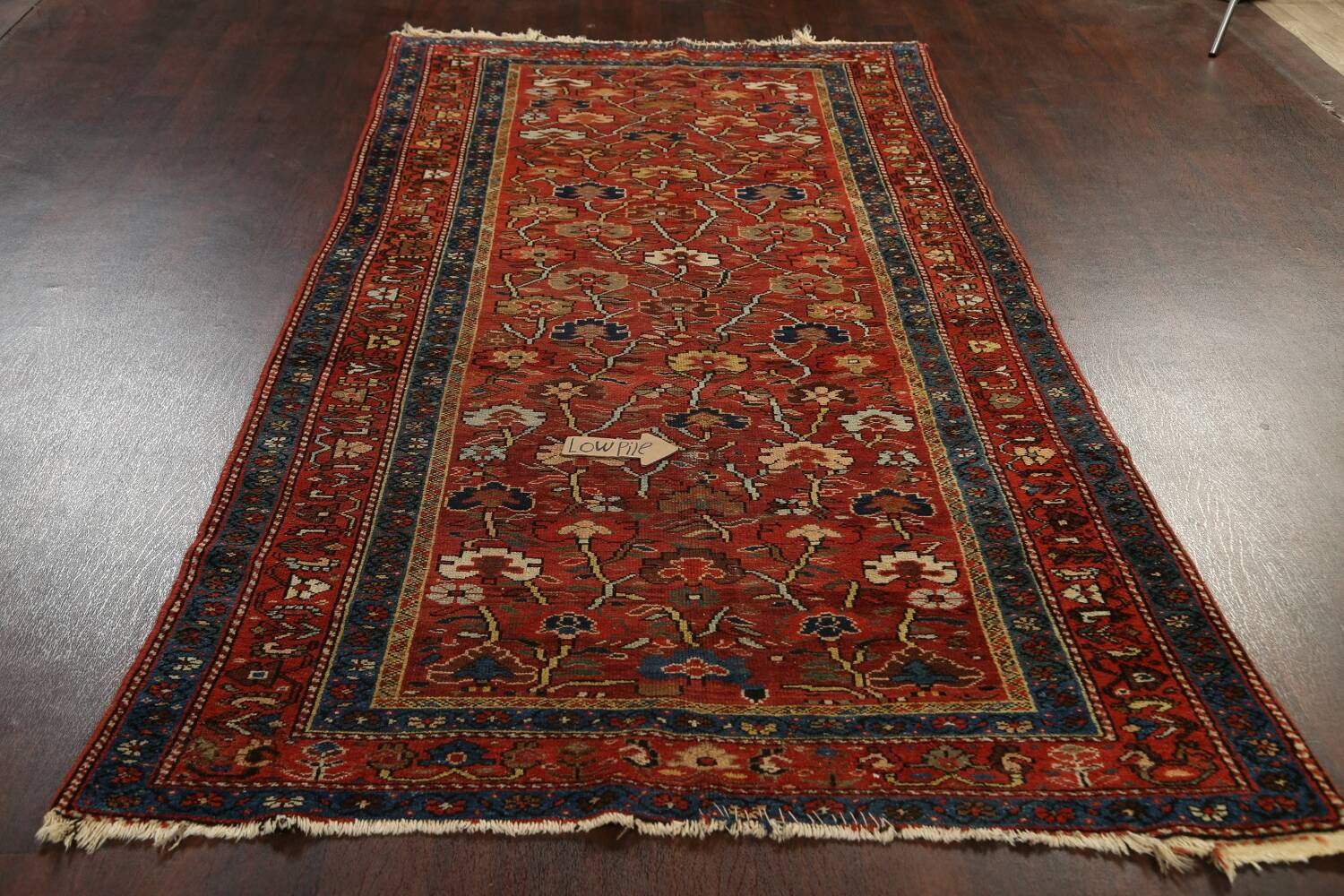 Pre-1900 Antique Vegetable Dye Sultanabad Persian Area Rug 5x10 image 14
