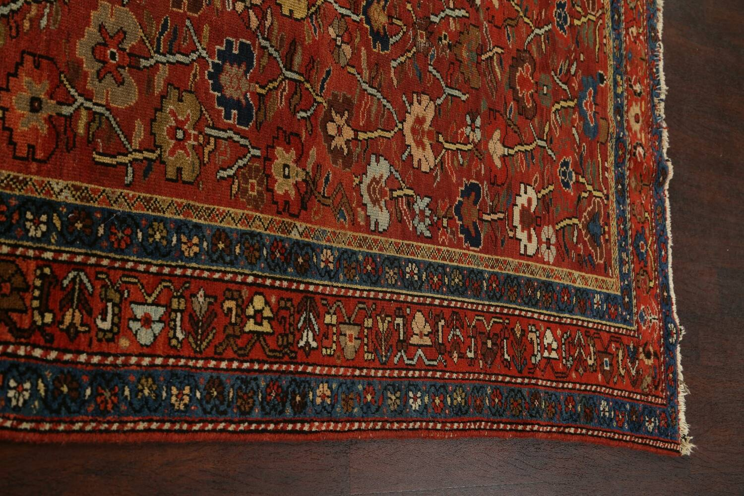 Pre-1900 Antique Vegetable Dye Sultanabad Persian Area Rug 5x10 image 16