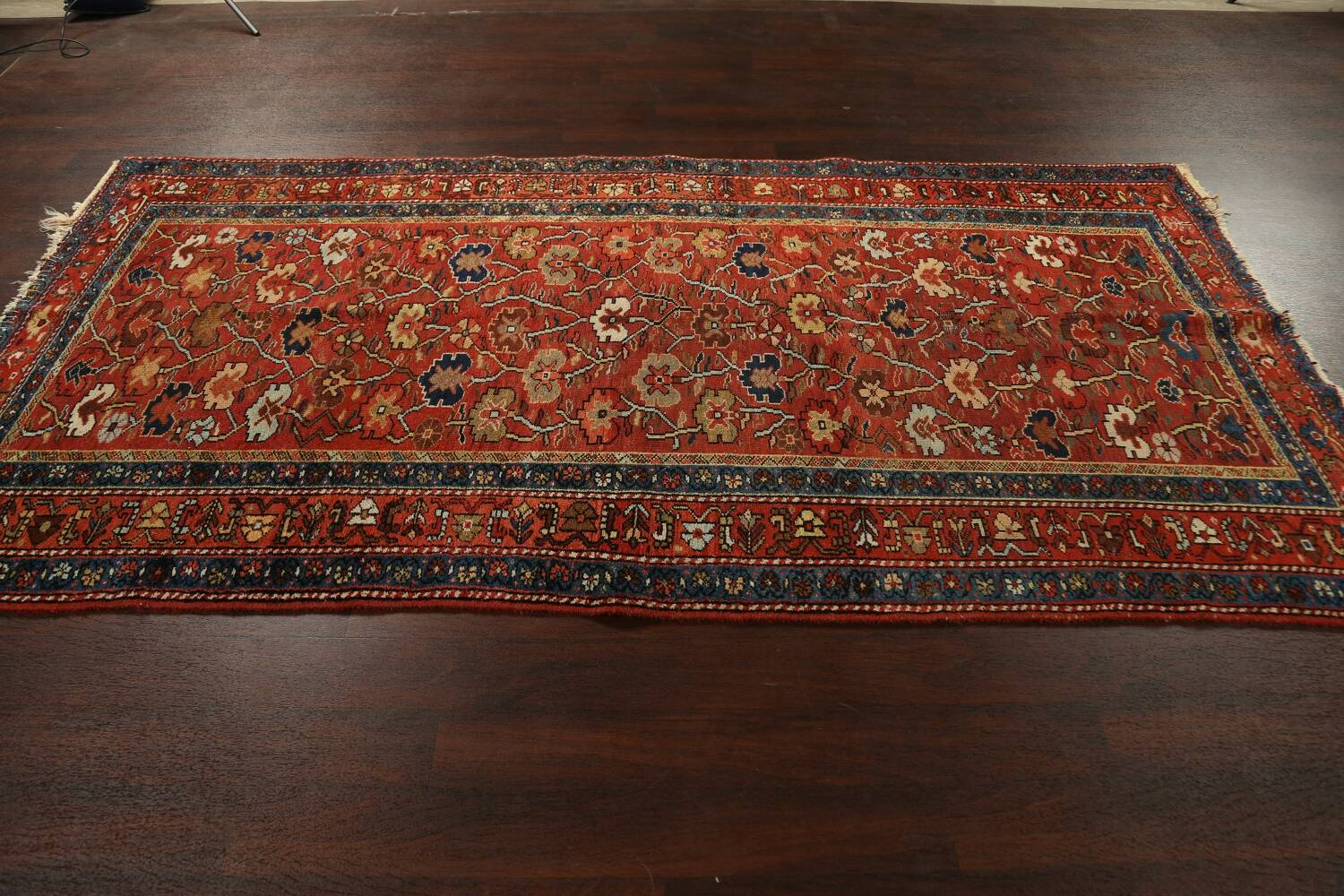 Pre-1900 Antique Vegetable Dye Sultanabad Persian Area Rug 5x10 image 18