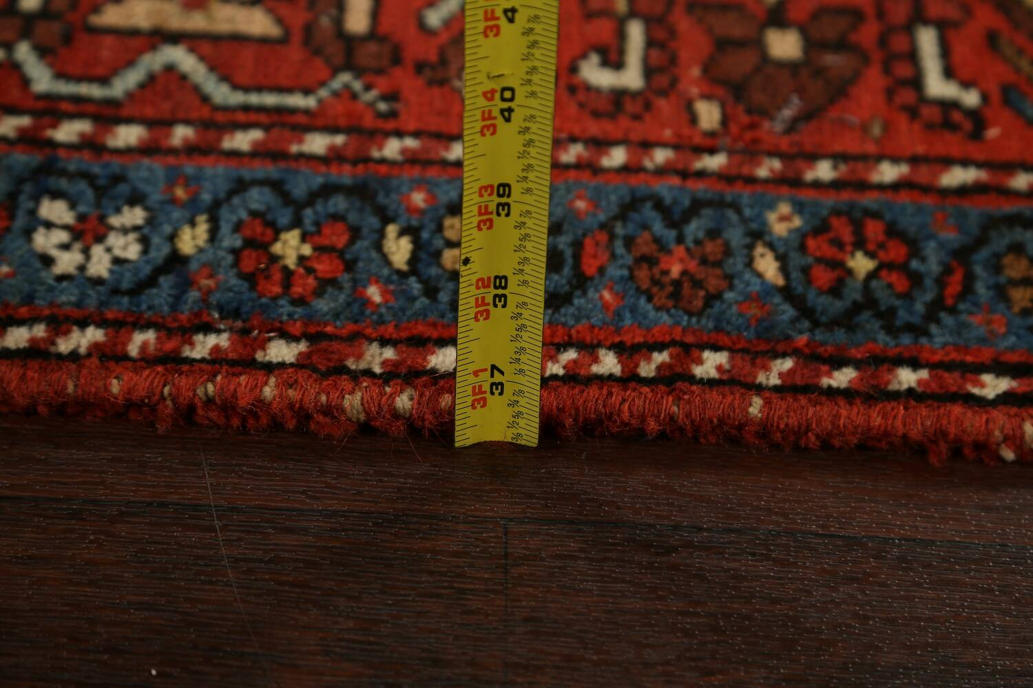 Pre-1900 Antique Vegetable Dye Sultanabad Persian Area Rug 5x10 image 23