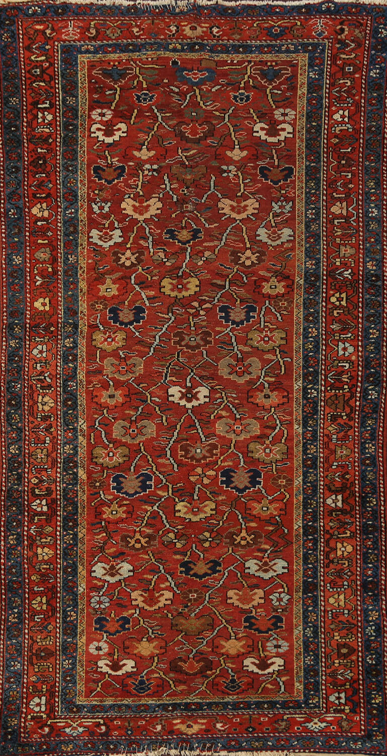 Pre-1900 Antique Vegetable Dye Sultanabad Persian Area Rug 5x10 image 1