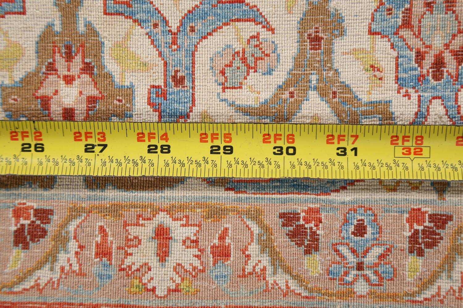 Antique 100% Vegetable Dye Isfahan Persian Area Rug 4x6 image 20