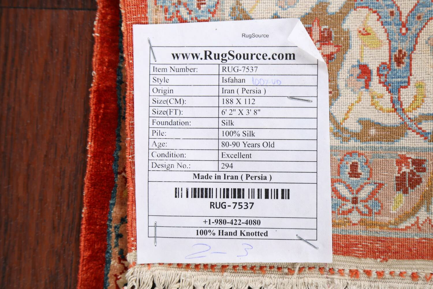 Antique 100% Vegetable Dye Isfahan Persian Area Rug 4x6 image 21
