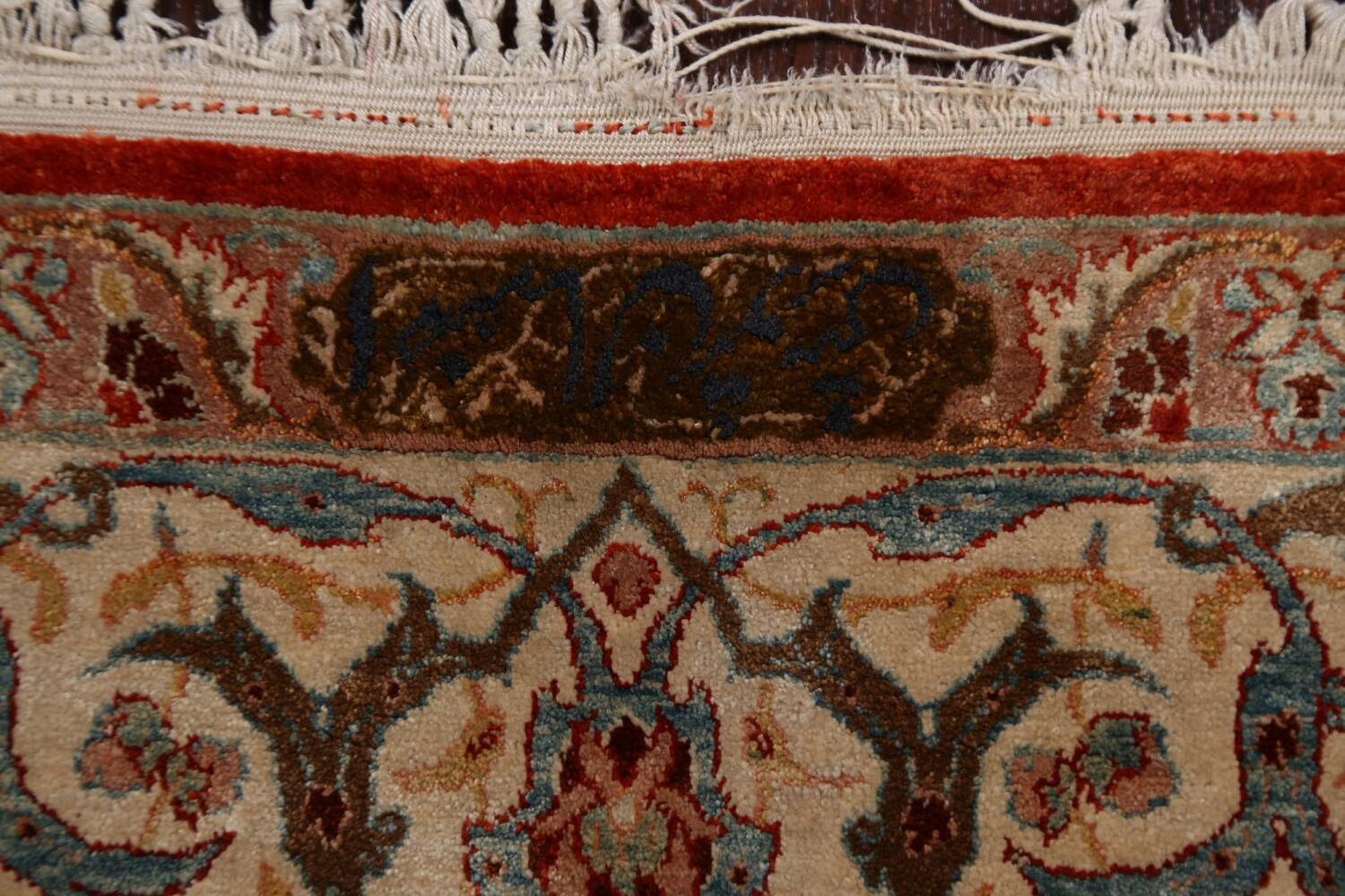 Antique 100% Vegetable Dye Isfahan Persian Area Rug 4x6 image 9